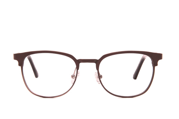 Moscow Copper Recyclable Aluminum Glasses with Prescription-Ready Clear Lens