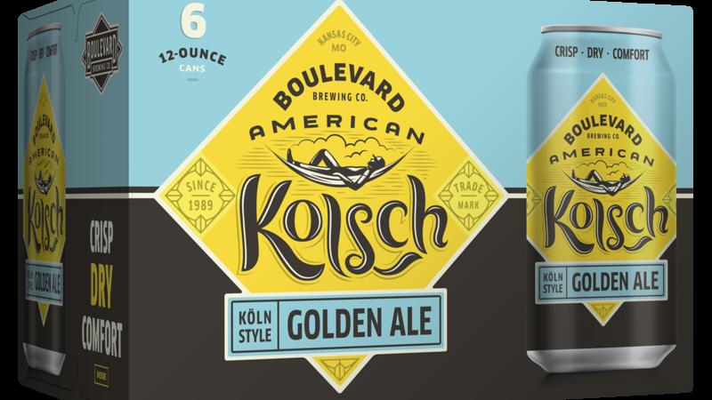 Boulevard American Kolsch Golden Ale, 6 Pack, 12 Oz Can