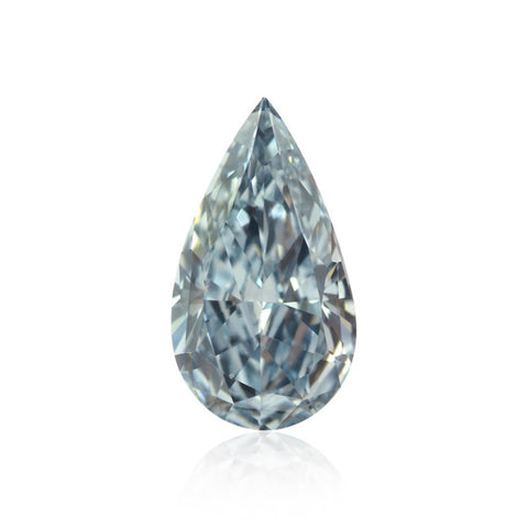 "Fancy Intense Blue ""Pear Shaped"" og ""Internally Flawless"" diamant  på 0,73 carat"