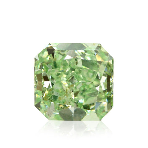 "Fancy Intense Yellowish Green/SI1 ""Radiant Cut"" diamant på 1,59 carat"