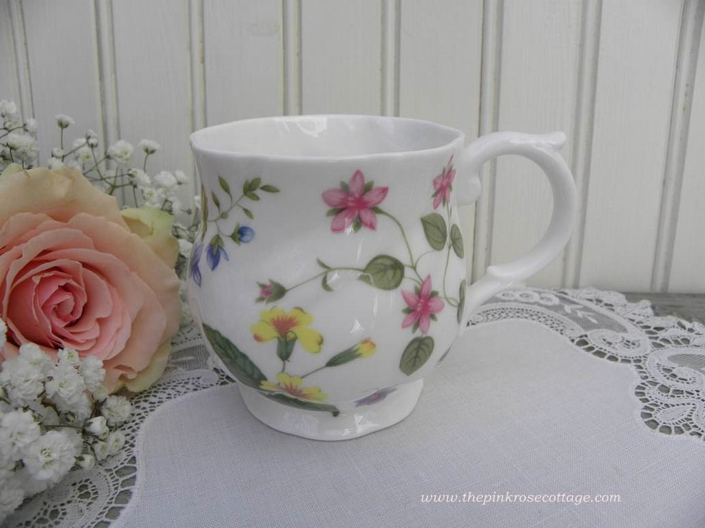 "Vintage Queen's ""Country Meadow"" Tea Coffee Mug - The Pink Rose Cottage"
