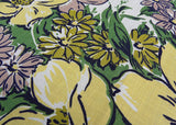 Vintage Tagged Simtex Magnolias and Daisies Tablecloth and Napkins