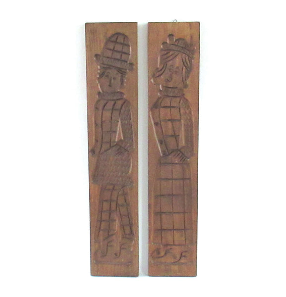 UpperDutch:Cookie Mold,Wooden Cookie Mold - Set of 2 XXL '29 Inch!' Antique wooden Dutch Folk Art Cookie Mold. Springerle, Bakery decor.