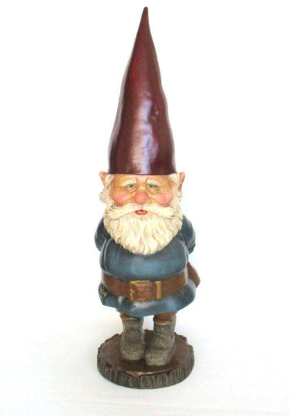 UpperDutch:Gnome,Garden Gnome Rien Poortvliet, David the Gnome, Vintage 34 INCH gnome, Forest gnome restaurant store decor, David el Gnomo.