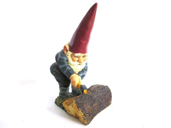 UpperDutch:Gnome,Rien Poortvliet Gnome after a design by Rien Poortvliet, David the Gnome, Lumberjack.