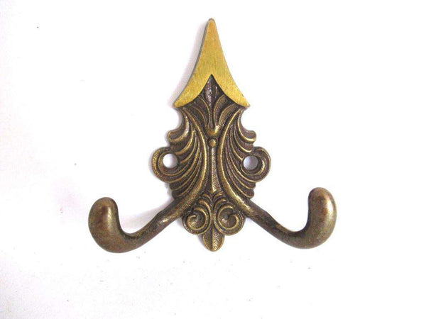 UpperDutch:Wall hook,Small Brass Ornate Wall hook, Coat hook, Towel / Kitchen hook.