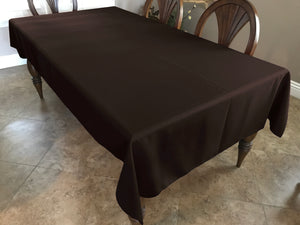 Solid Poplin Tablecloth Dark Brown