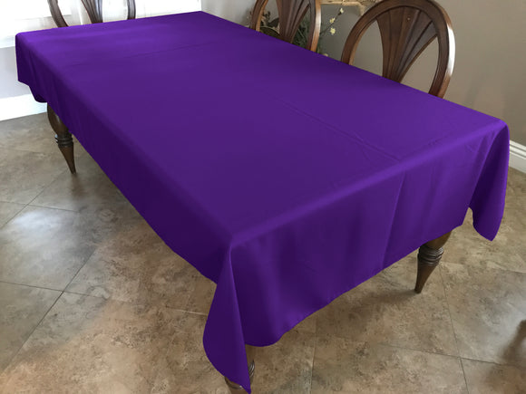 Solid Poplin Tablecloth Purple