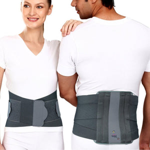 Tynor Physio Supports Australia  Contoured Lumbar Sacral Support Back Brace Belt for Lower Back Pain Relief/W Adjustable Straps - Compression Belt for Men & Women- for Lumbar spondylitis, Osteoporotic pain, sore muscles, Sciatica, Scoliosis & Herniated Disc