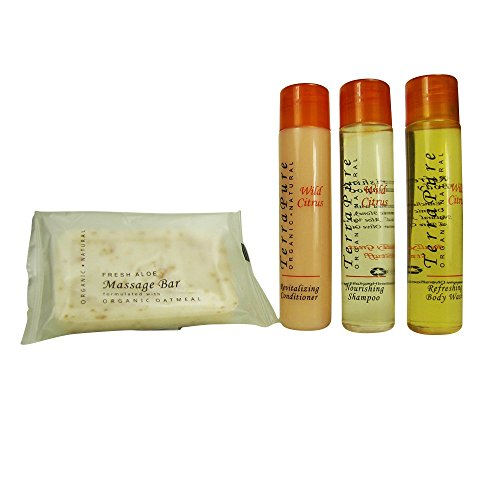 Terra Pure Wild Citrus Organic & Natural BNB Amenity & travel Sets - Shampoo, Conditioner & Body Wash (SETS)