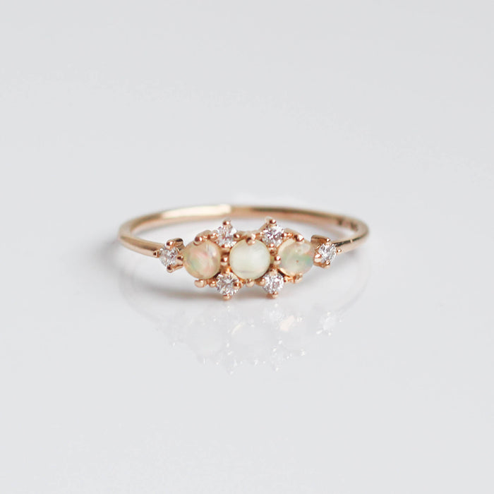 Opal & Diamond Celestial Wonder Ring