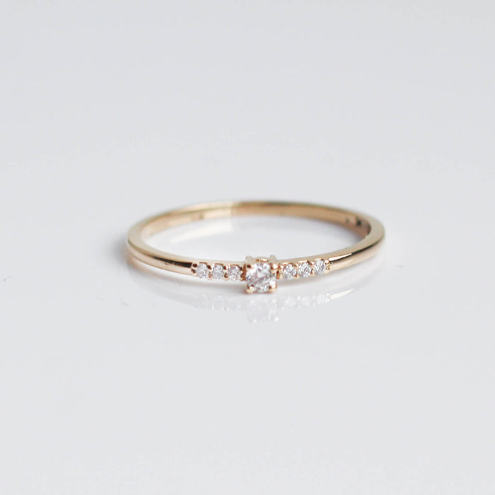 Diamond Sweet Pea Ring