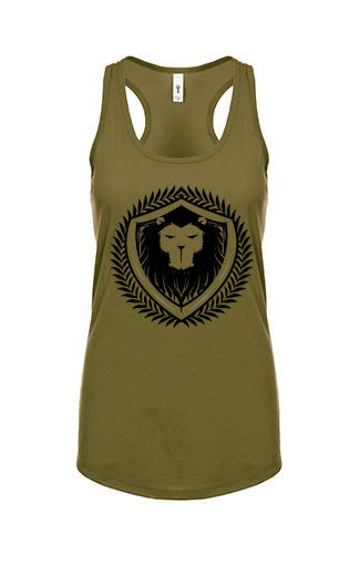 Merciless Athletics Womens Military Green Racerback Tank
