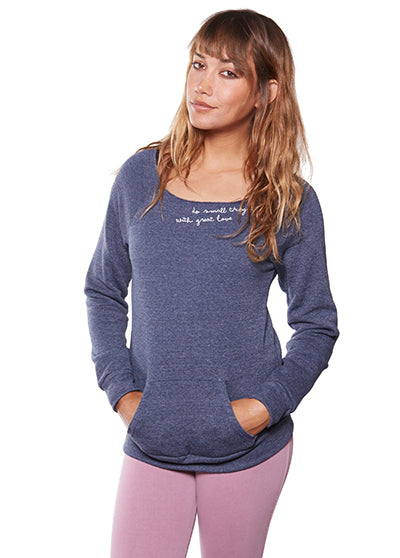 'DO SMALL THINGS WITH GREAT LOVE' ECO FLEECE PULLOVER