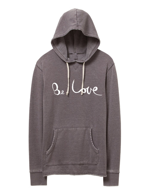 'BE LOVE' FRENCH TERRY PULLOVER HOODIE