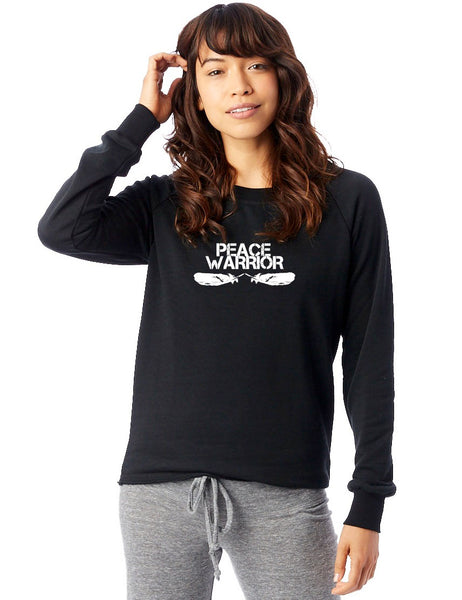 'PEACE WARRIOR' FRENCH TERRY SWEATSHIRT