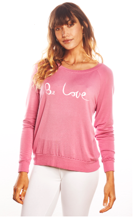 'Be LOVE' Ultra Soft Raglan - Guava