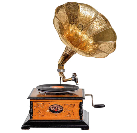 Heritage II-Carved Wooden Gramophone-LPVC104-The Best Handy Crafts