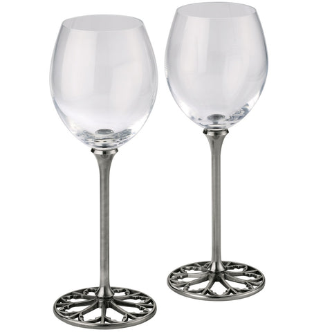 Royal Selangor's Tracery White Wine Glass Pair 012598A