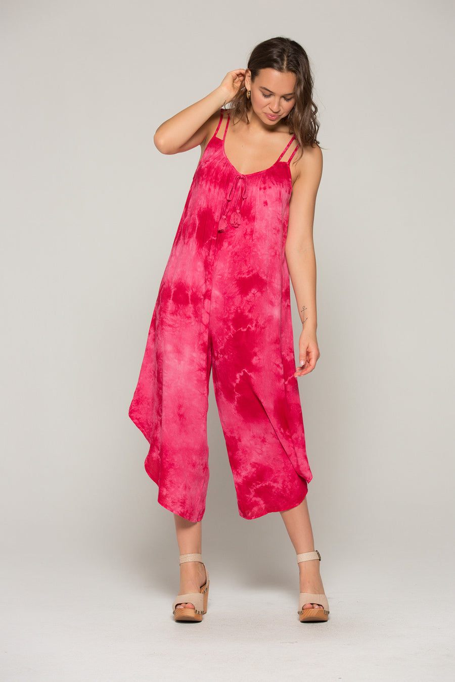 Devon Red Tie Dye Jumpsuit Master
