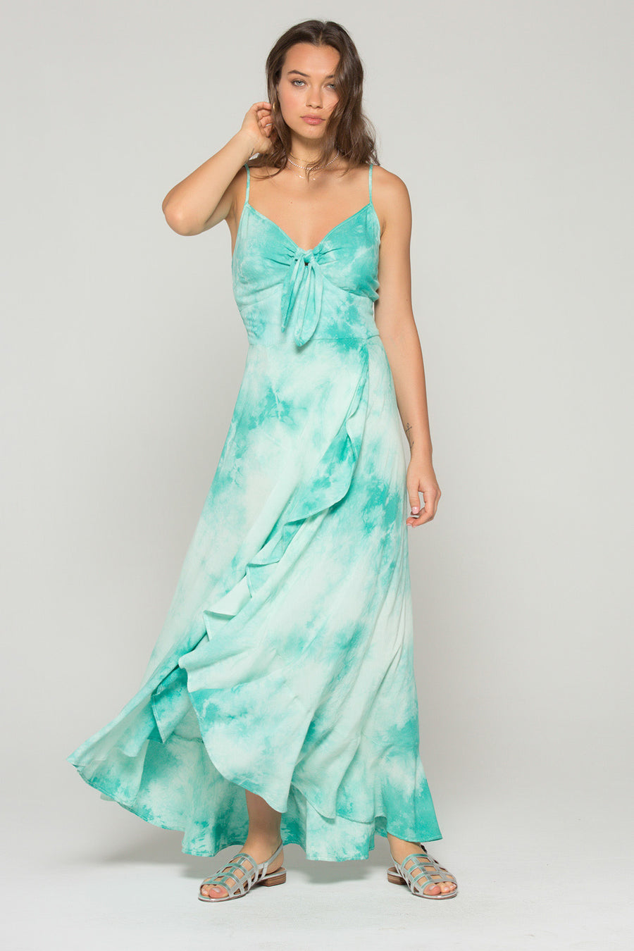 Jade Mint Tie Dye Maxi Dress Master