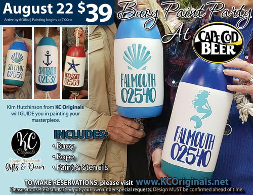 Cape Cod Beer - Buoy Paint Party - DEPOSIT $20 balance will be due night of party