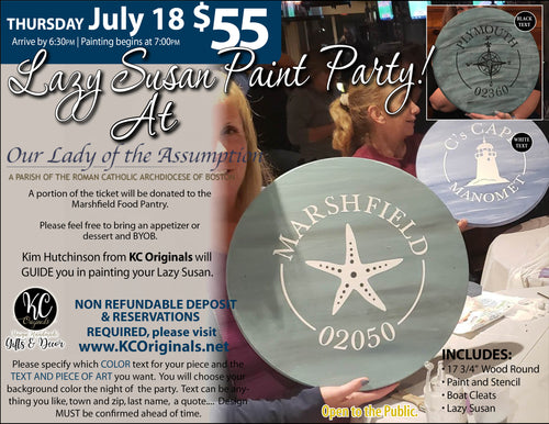 Our Lady of Assumption - Lazy Susan Paint Party -DEPOSIT - $20 balance will be due night of party