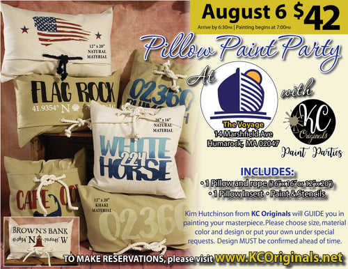 The Voyage - Pillow Paint Party - DEPOSIT $20 balance will be due night of party