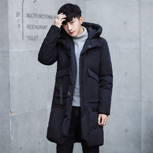-30 Degree Temperature 2017 Long Thick Warm Casual Winter Jacket Men