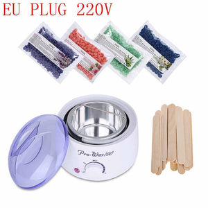 Hair Removal Wax Warmer Heater Machine + 4*100g Packs Wax Beans +20PCs Wiping Stick Hair Removal Bean Wax Warmer Heater Pot