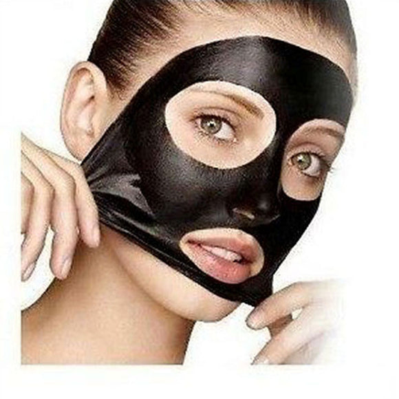 PILATEN Black Mask Tearing Style Deep Cleansing Purifying Peel Off Black Head,Close Pore,Face Mask Blackhead Remover Pore Strip