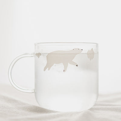 Polar Animal Friends Clear Glass Cup - NaturAmericas Market