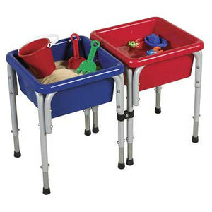 ECR4Kids ELR-12401 Two-Station Square Sand & Water Table with Lids