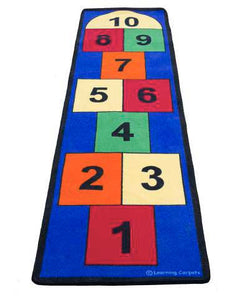 Learning Carpets Jumbo Large Hopscotch Rug - CPR748