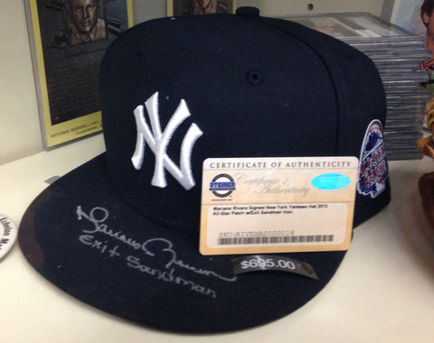 Mariano Rivera Autographed 2013 All Star Cap with Exit Sandman Inscription (STEINER)