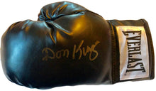 Hall of Famer Don King Autographed Black Everlast Boxing Glove with a Rare Gold Signature.