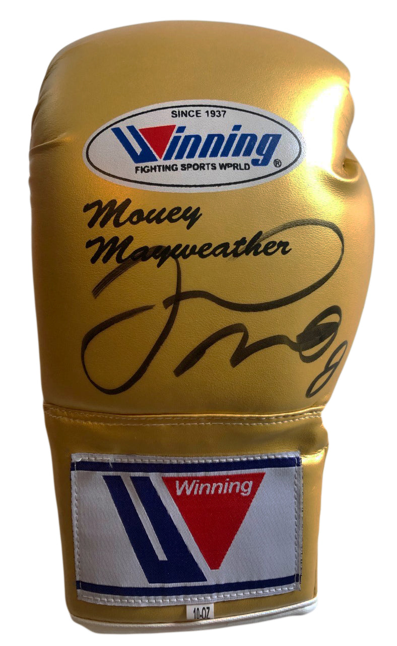 Floyd Mayweather signed autographed Winning Gold color Boxing Glove