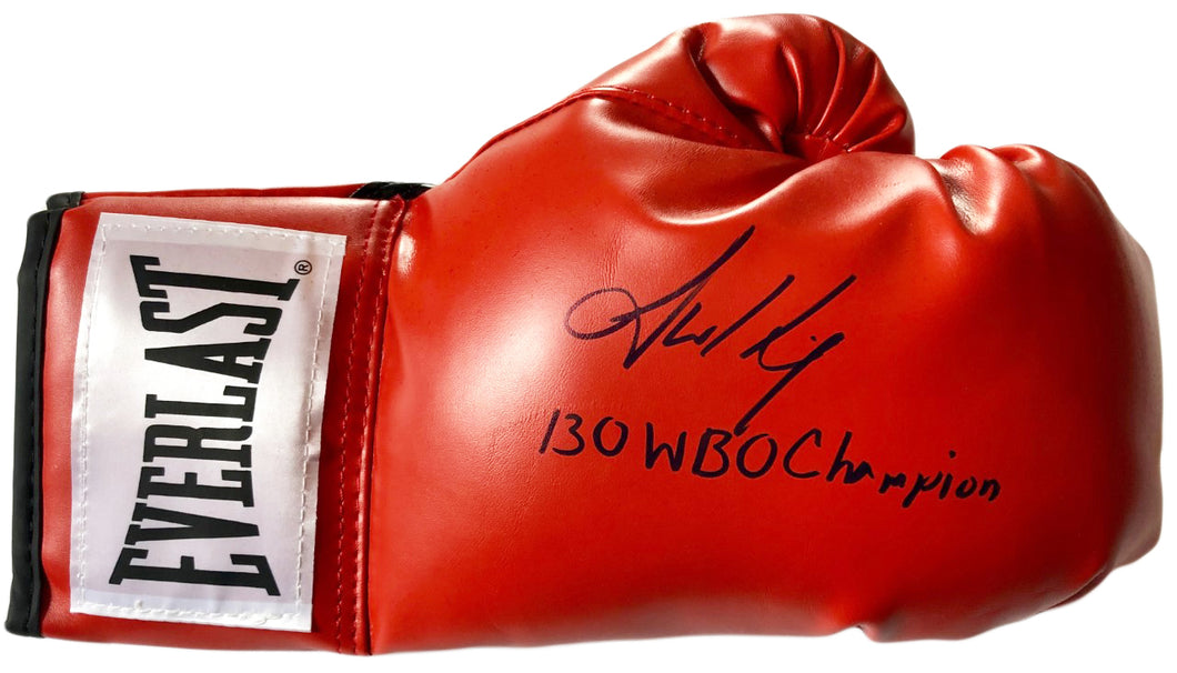 Jamel Herring autographed Everlast Boxing Glove 130 WBO Champion, Photo Proof