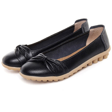Black Bowtie Toe Nodule Shoes