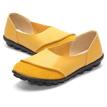 Yellow Round Suede Toe with Black Nodule Sole