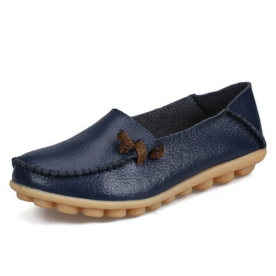 Dark Blue Loafer Moccasins with Side Lace