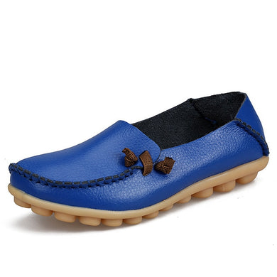 Royal Blue Loafer Moccasins with Side Lace