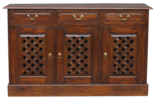 Florida 3-Carved-Door-3-Drawer-Teak Buffet-ATF388SB-303-CV