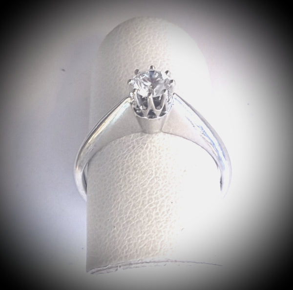 D-A solitaire diam.ring. 0,36 tw/si1