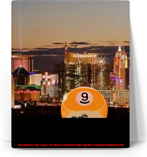 GBD 9-BALL LAS VEGAS STRETCHED CANVAS WALL ART - cuemax