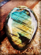 Labradorite Palm Stone ||Double sided flash  #1