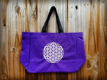 Flower of Life Embroidered Essential Tote w/Water Bottle Holder (Custom Options)