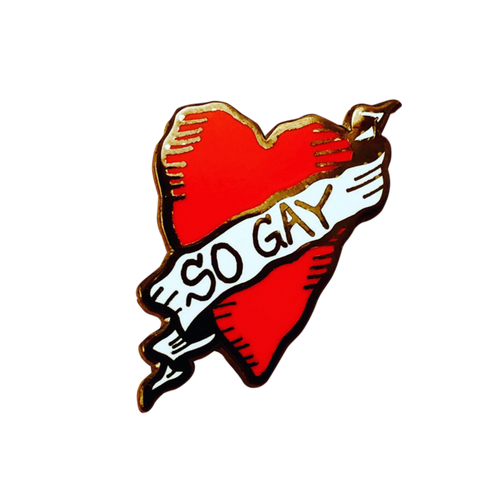 So Gay Heart Pin