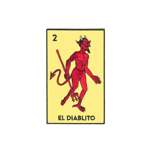 El Diablito Loteria Card Patch