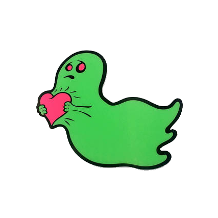 Love is Scary Sticker (Glows in the Dark!)